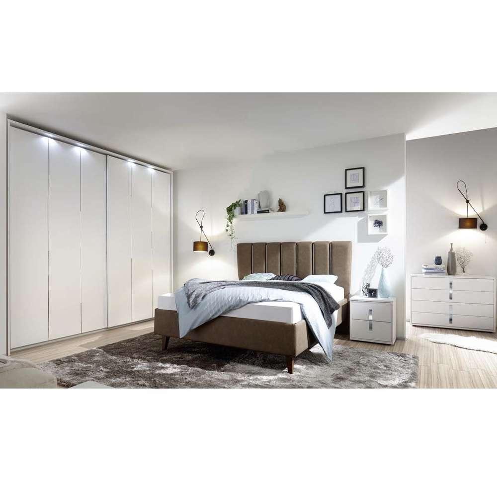 Camera da letto completa Cometa, mobili moderni letto, armadio