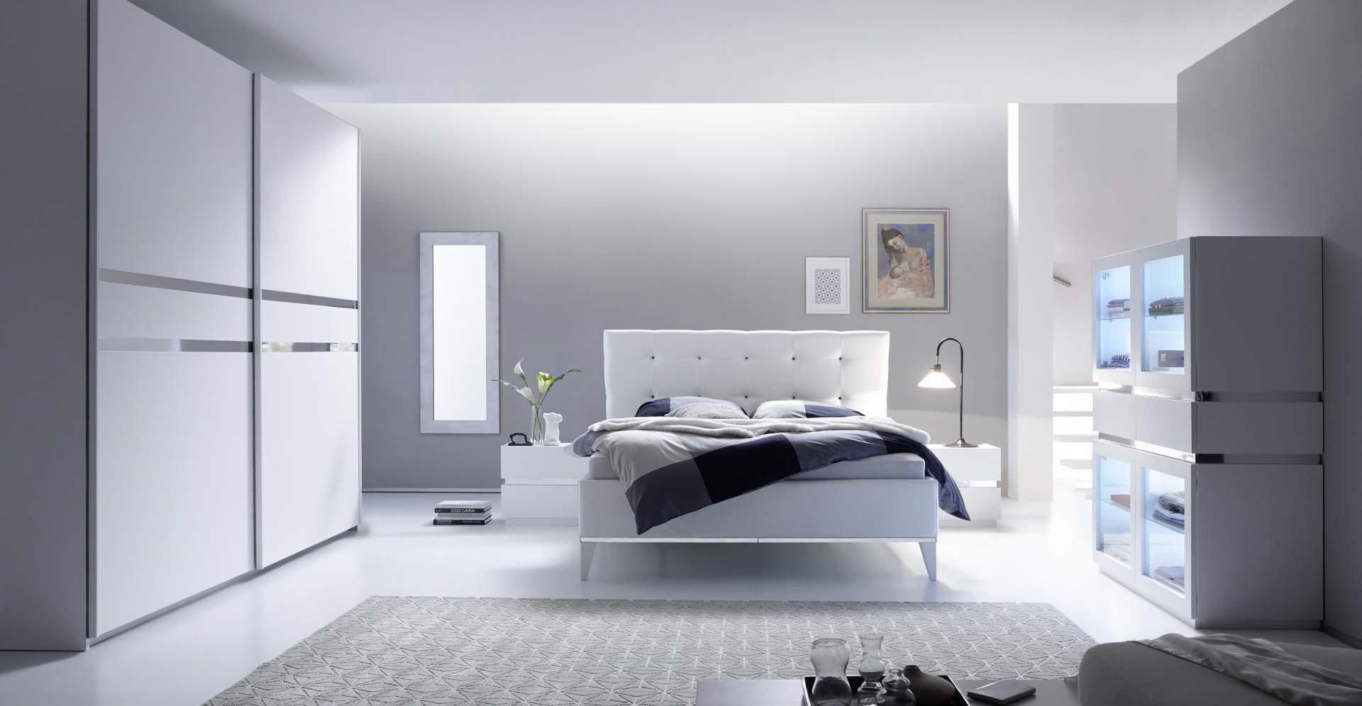 Letto matrimoniale Reno, mobile camera da letto moderno, 180x200