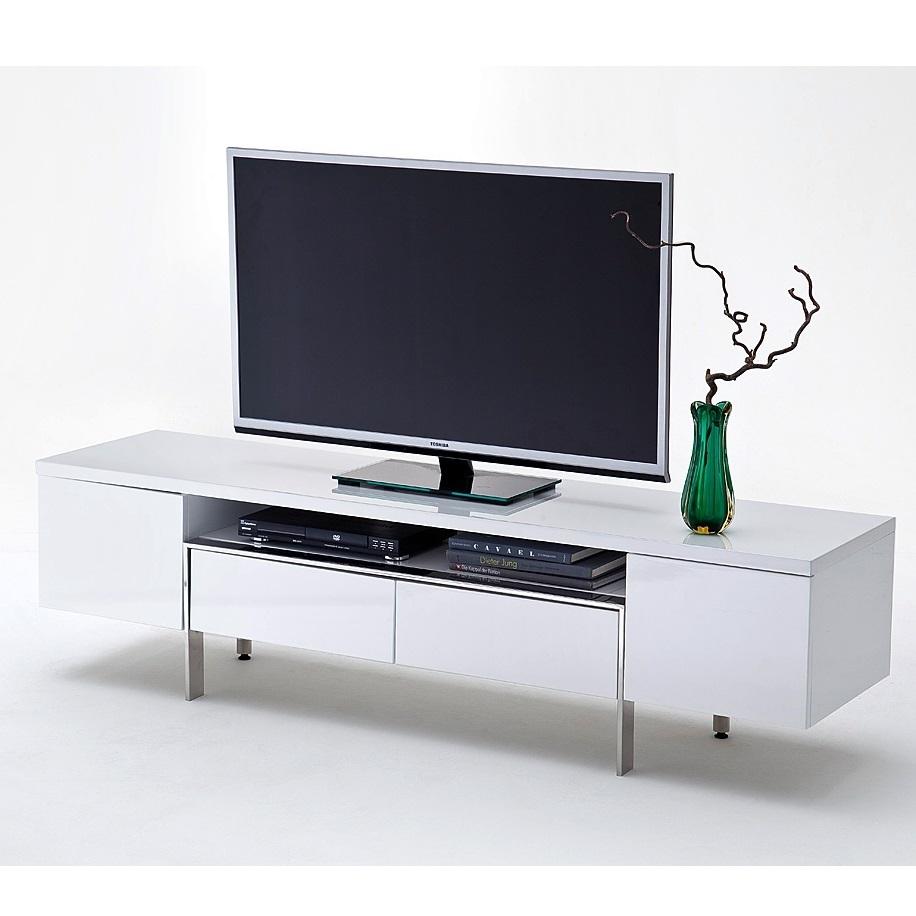 Porta tv bianco Pesaro, mobile soggiorno moderno, portatv design