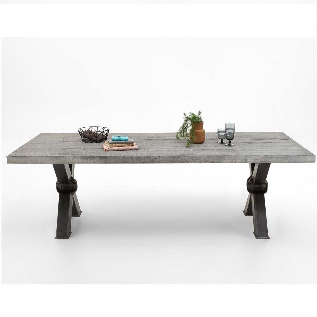 Tavolo massiccio Cervino, mobile in legno per sala da pranzo