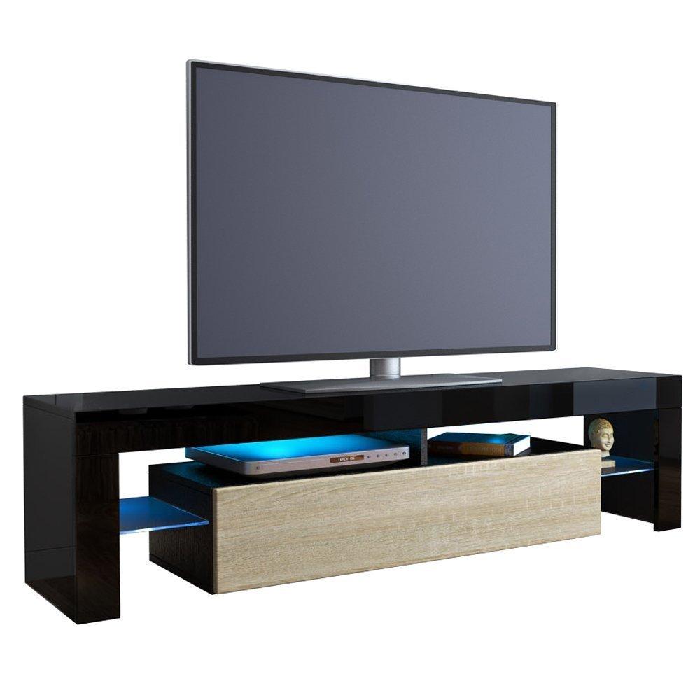 Cesare porta tv corpo nero e frontali in 13 colori - Porta tv nero ...