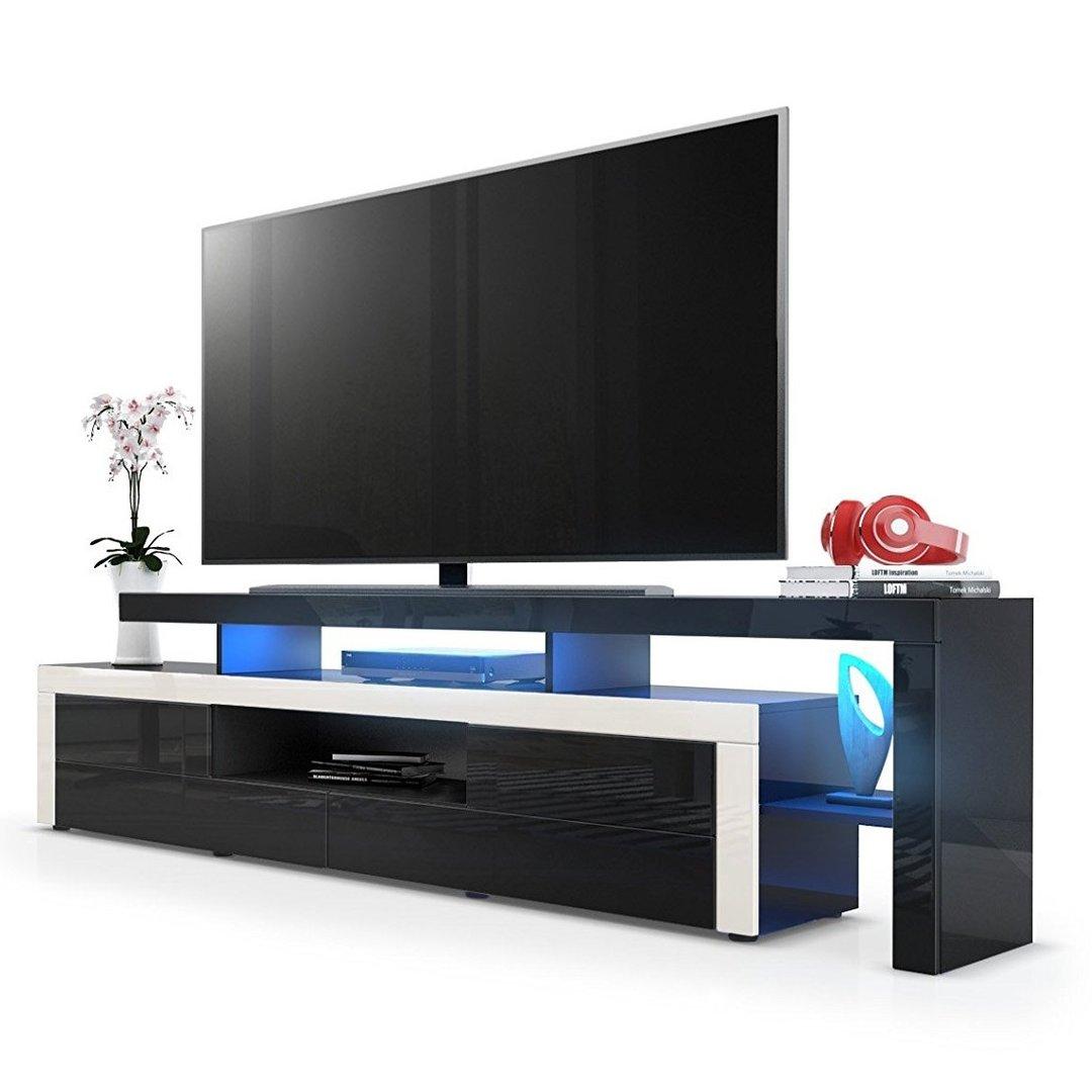 Portofino mobile porta tv moderno nero per soggiorno design - Porta tv nero ...