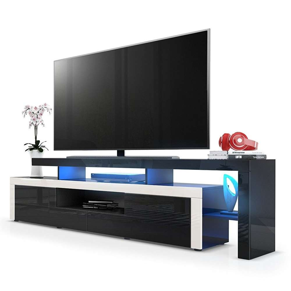 Portofino mobile porta tv moderno nero, per soggiorno design