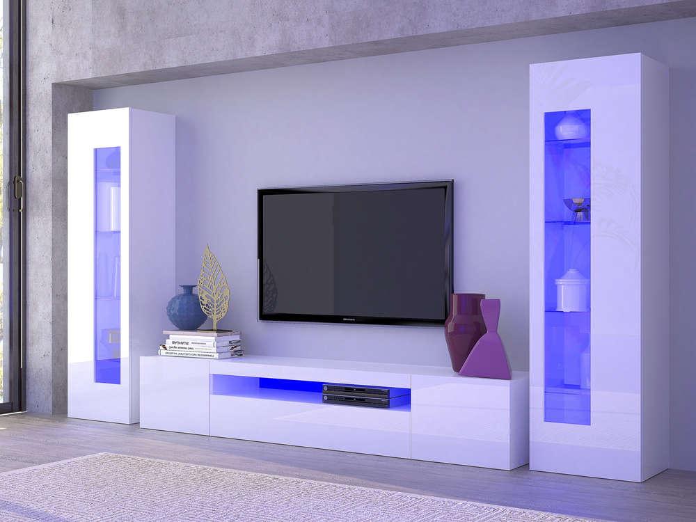Mobile soggiorno tower porta tv e vetrine moderne soggiorno