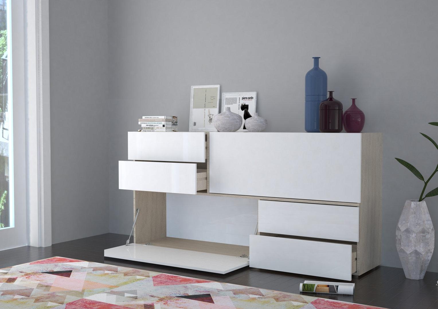 Avion com moderno mobile soggiorno camera bianco design for Soggiorno moderno bianco