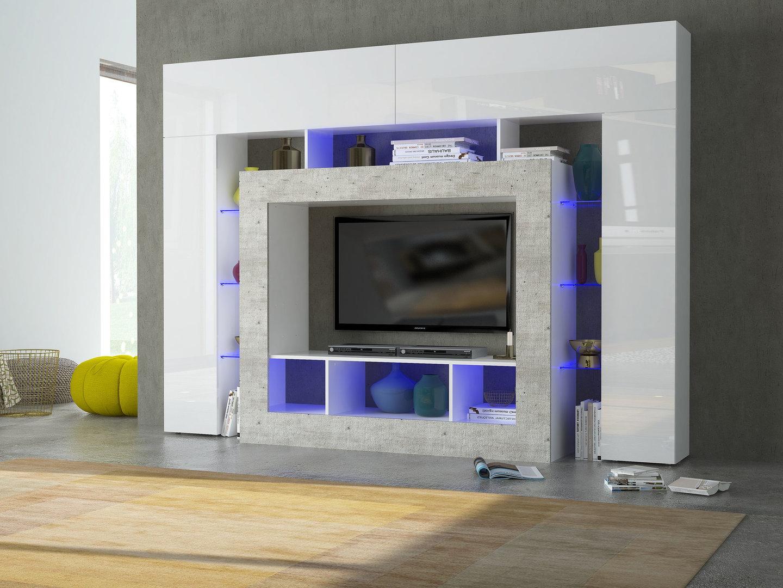 Soggiorno moderno monopoli mobile porta tv bianco di design - Mobile porta tv moderno design ...