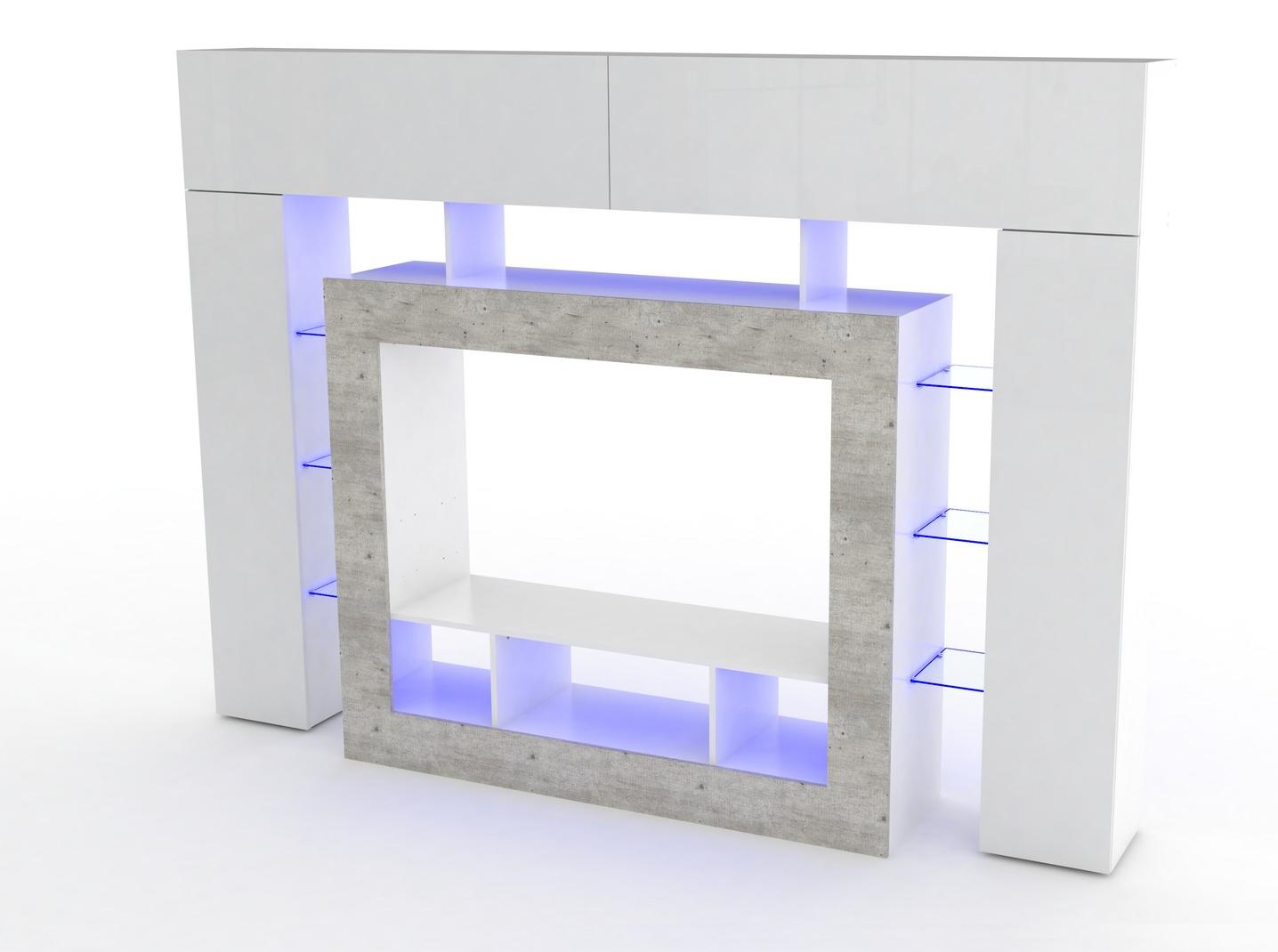 Soggiorno moderno monopoli mobile porta tv bianco di design for Mobile soggiorno moderno bianco