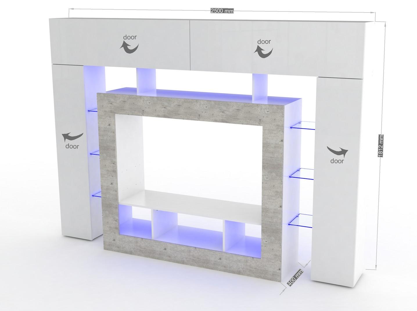 Soggiorno moderno monopoli mobile porta tv bianco di design for Mobile soggiorno moderno