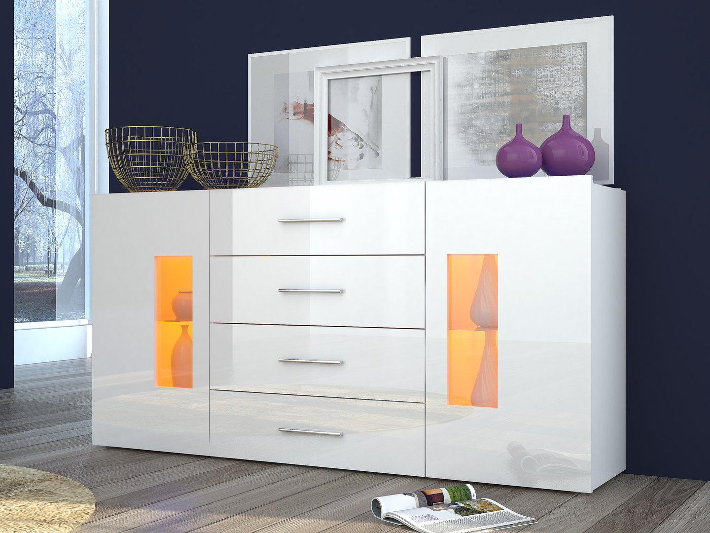 Mobile soggiorno moderno tower madia credenza con vetrine for Mobile da soggiorno moderno
