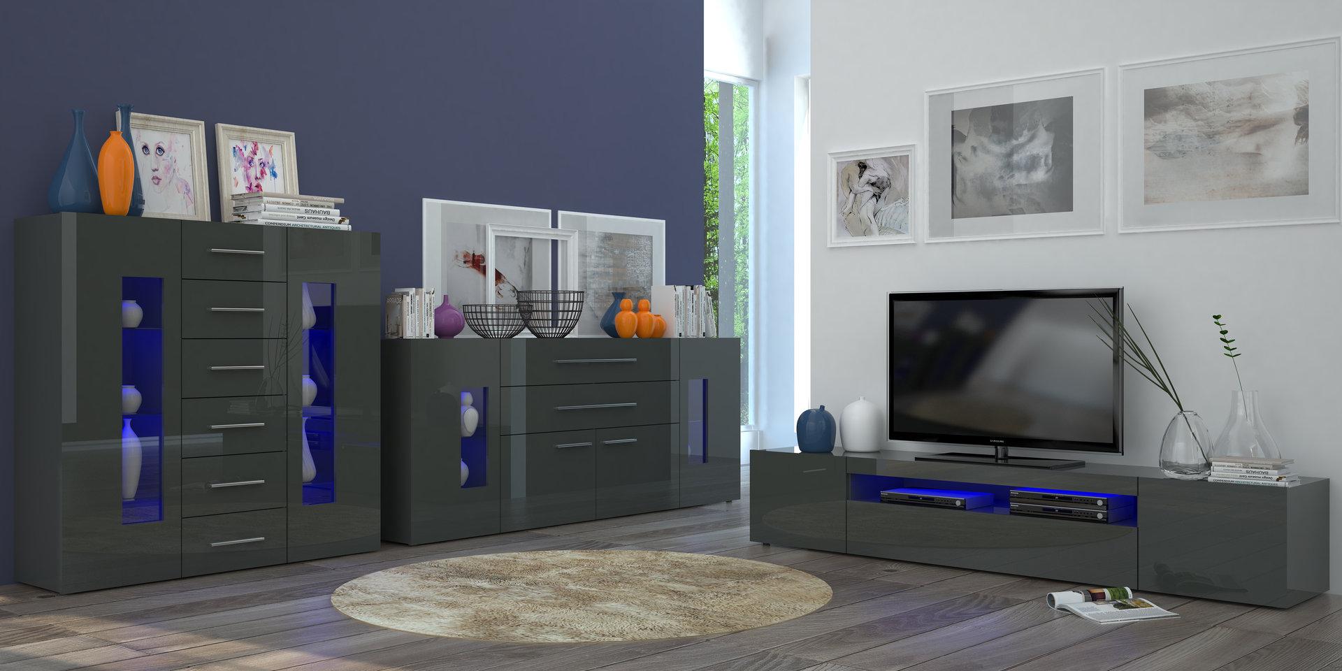 Credenza moderna tower 200 madia per soggiorno design for Mobile per soggiorno