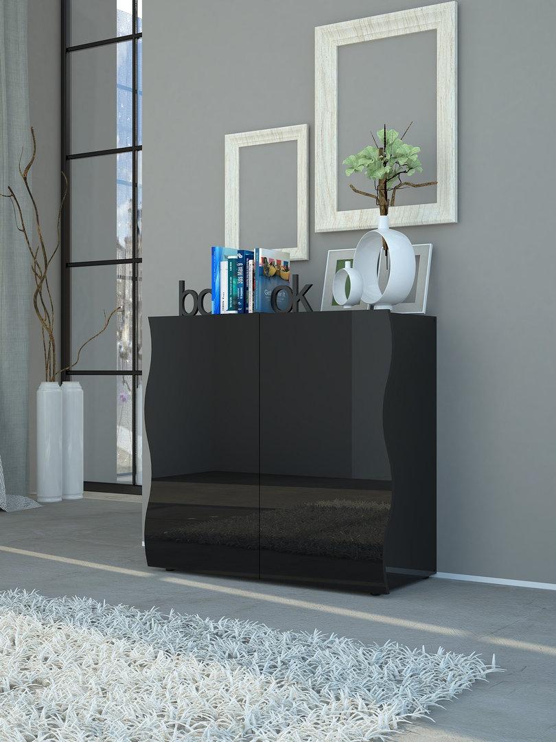 Mobile moderno goccia 77 per disimpegno corridoio soggiorno for Soggiorno bianco e nero