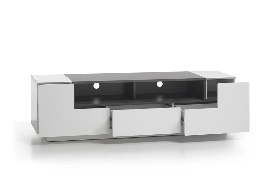 Mobile Tv Moderno Bianco : Porta tv bianco opaco e cemento global mobile portatv