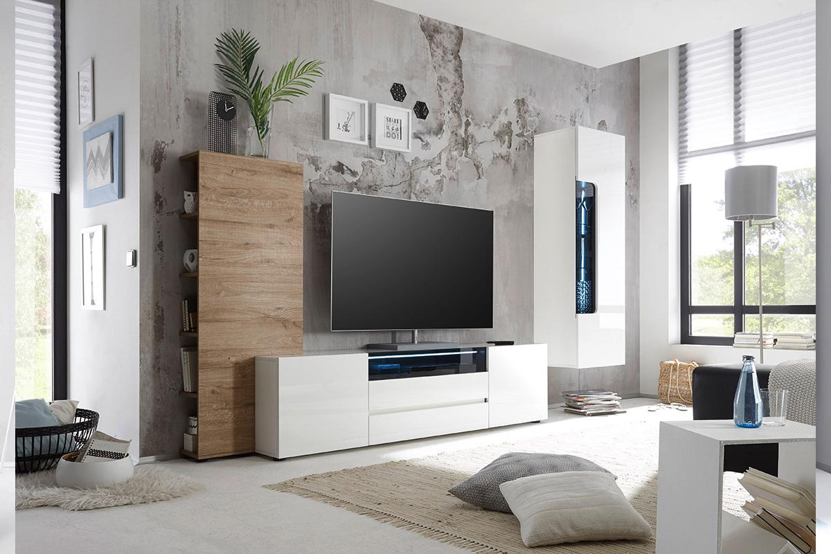 Porta tv Secret, mobile per soggiorno moderno giovane nuovo
