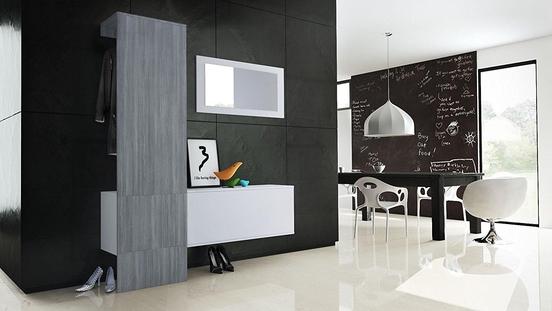 Mobile per ingresso neve 4 appendiabiti specchio e scarpiera - Specchio appendiabiti ...