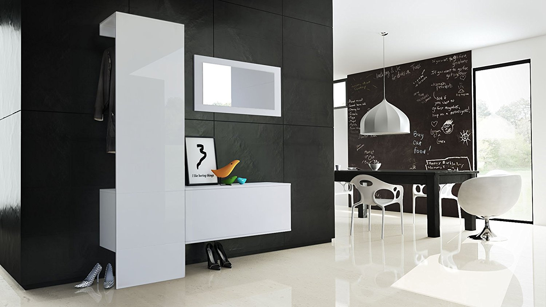 Mobili Per Corridoio E Ingresso : Mobile per ingresso neve appendiabiti specchio e scarpiera