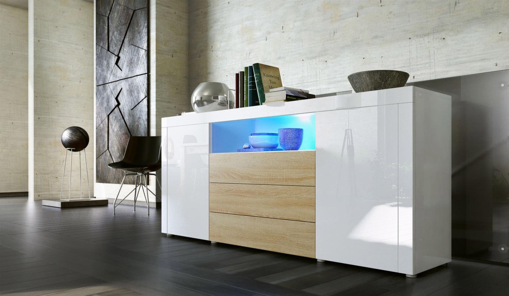 Credenza Moderna Lunga : Madia moderna collezione diego c mobile sala soggiorno