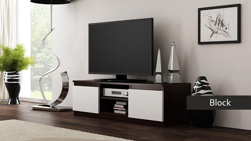 Mobile Porta Tv Wenge.Porta Tv Moderno Block Mobile Soggiorno In 5 Colori A Scelta