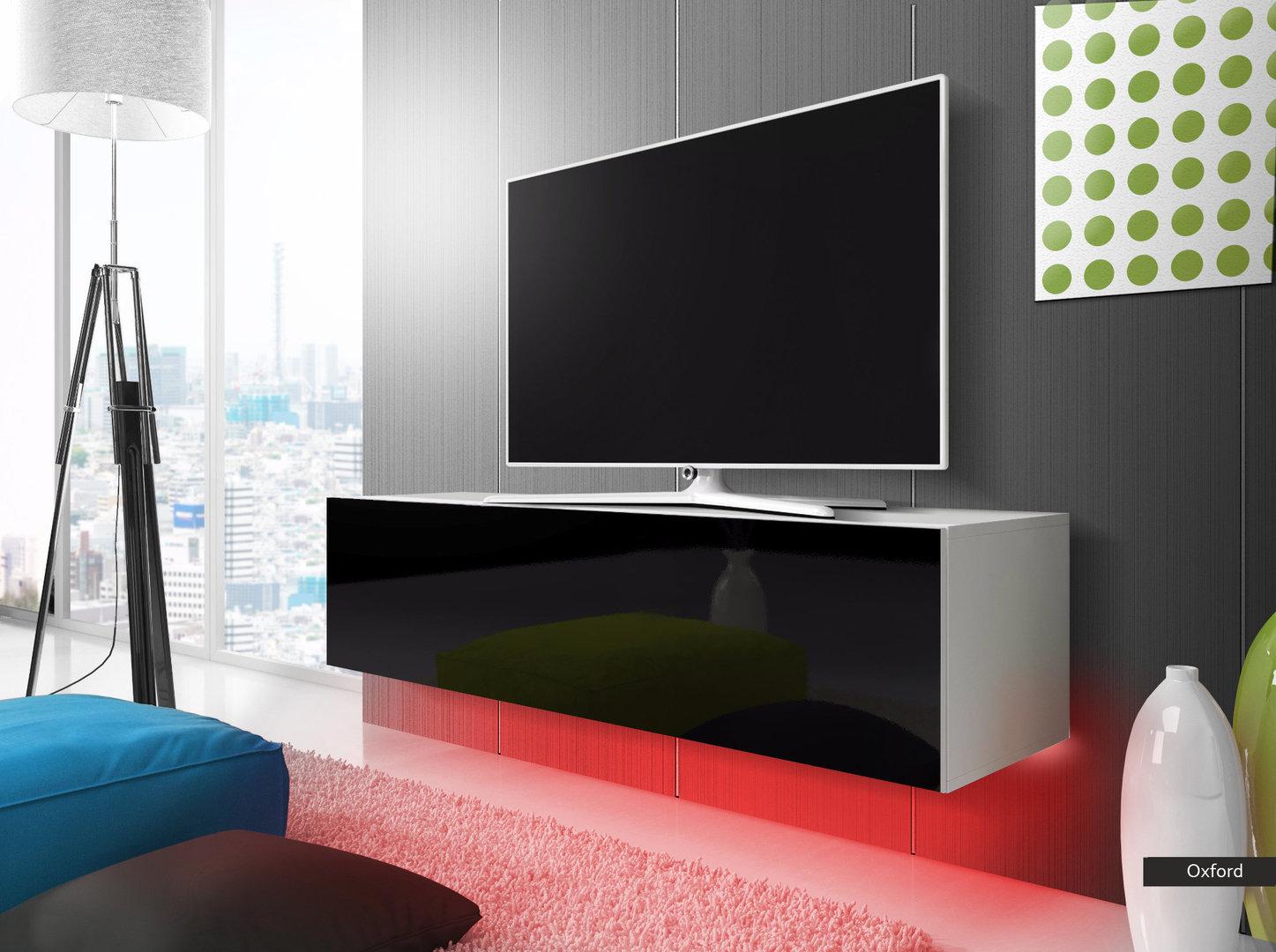 Mobile Tv Moderno Sospeso : Oxford mobile porta tv moderno con luci a led portatv