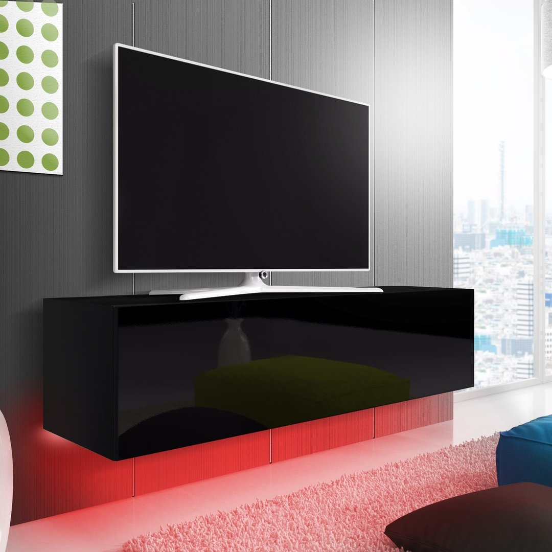 Oxford mobile porta tv moderno con luci a led, portatv