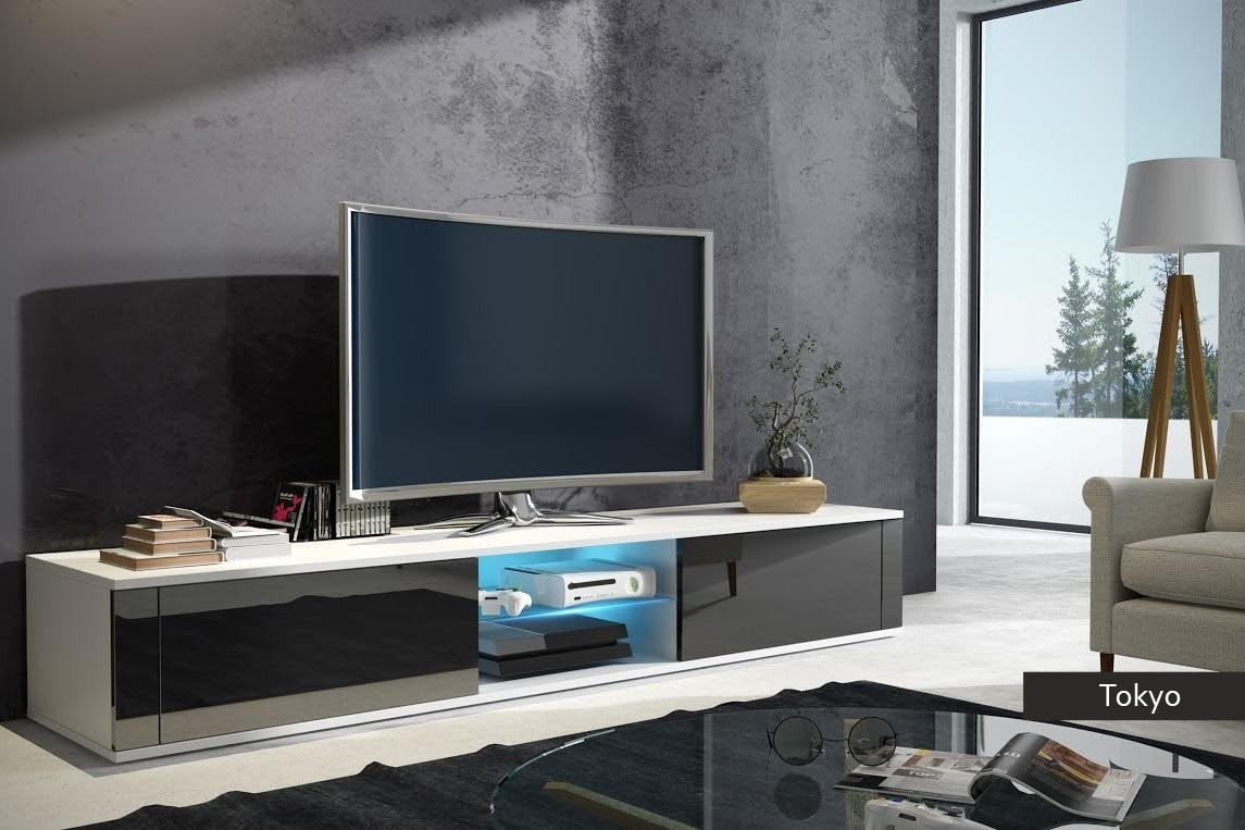 Porta tv moderno Tokyo, in 5 colori design, mobile soggiorno