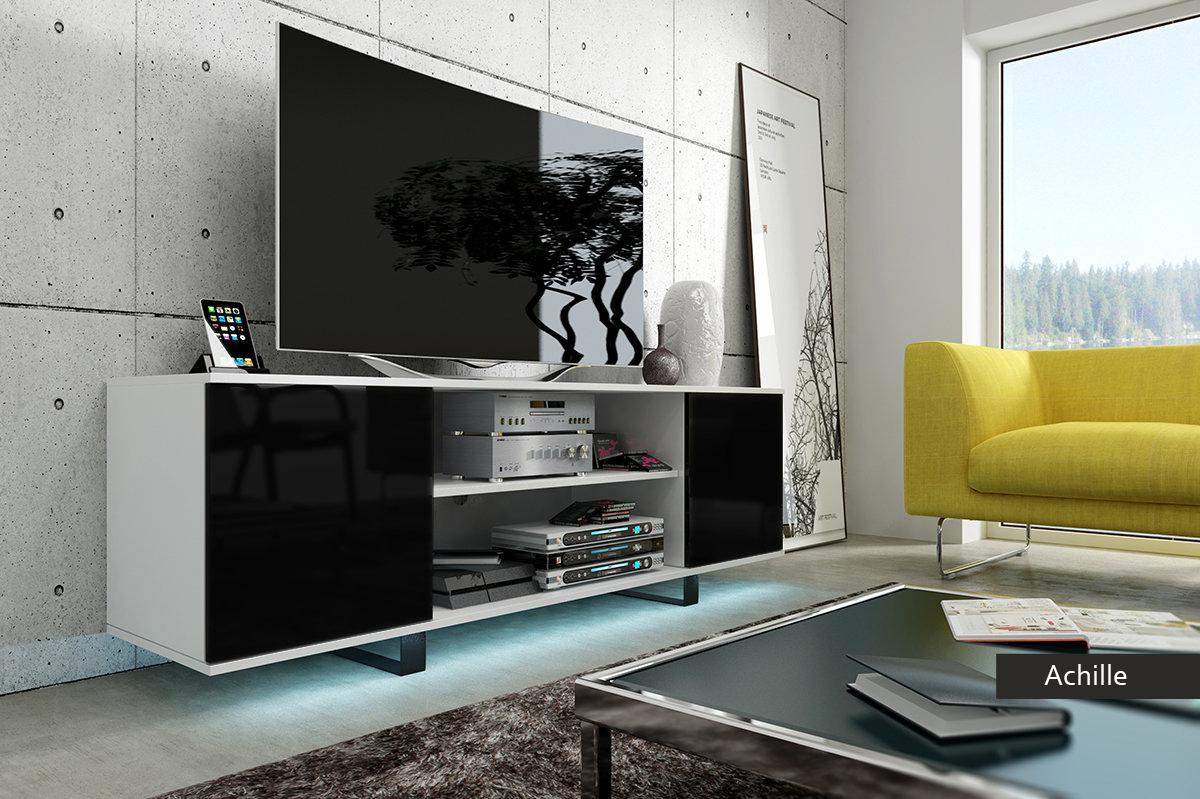 Porta tv achille mobile moderno con led optional 4 colori design - Mobile porta tv moderno design ...