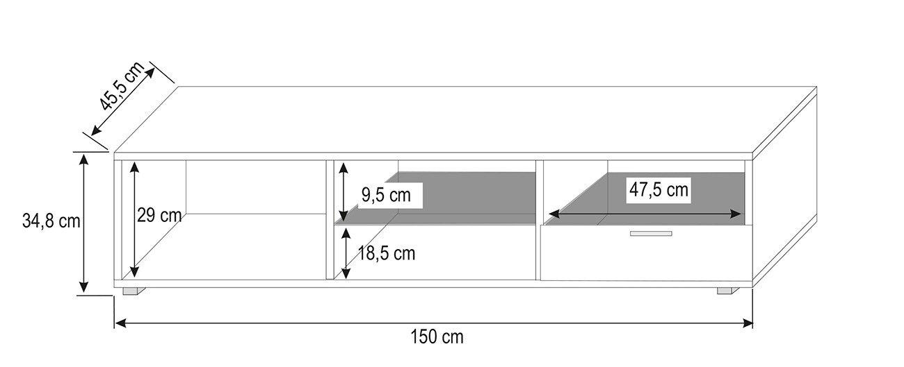 Mobile porta tv argo per soggiorno moderno design bianco for Mobile per soggiorno moderno