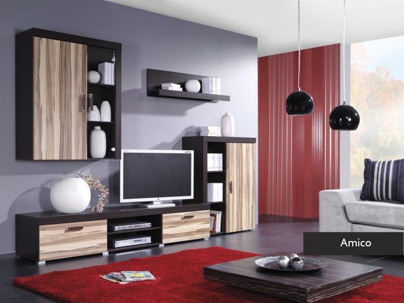 Composizione soggiorno amico mobile parete porta tv in colori