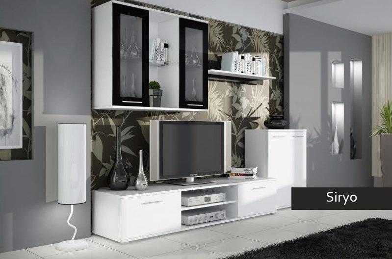Mobile porta tv moderno siryo composizione soggiorno grande for Composizione soggiorno moderno