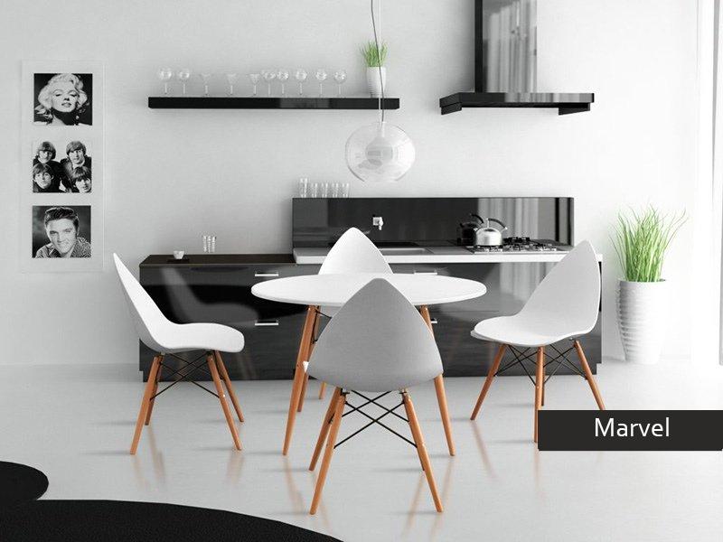 Tavolo rotondo marvel per cucina tavolo sala da pranzo for Colori per sala da pranzo