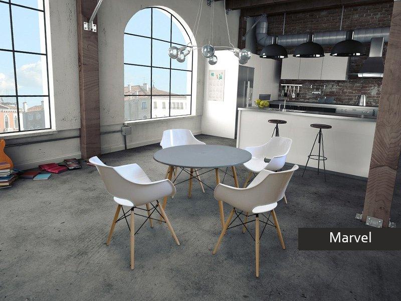 Tavolo rotondo Marvel per cucina, tavolo sala da pranzo moderno