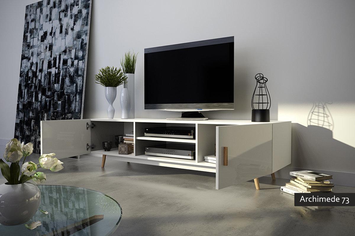 Archimede 73 mobile porta tv moderno per soggiorno for Mobile per soggiorno