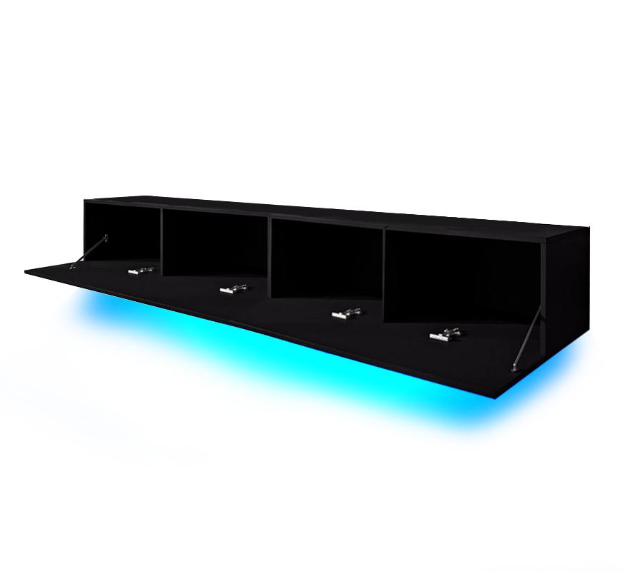 Porta tv oxford 200 soggiorno con led blu o rosse mobile for Mobili da salone