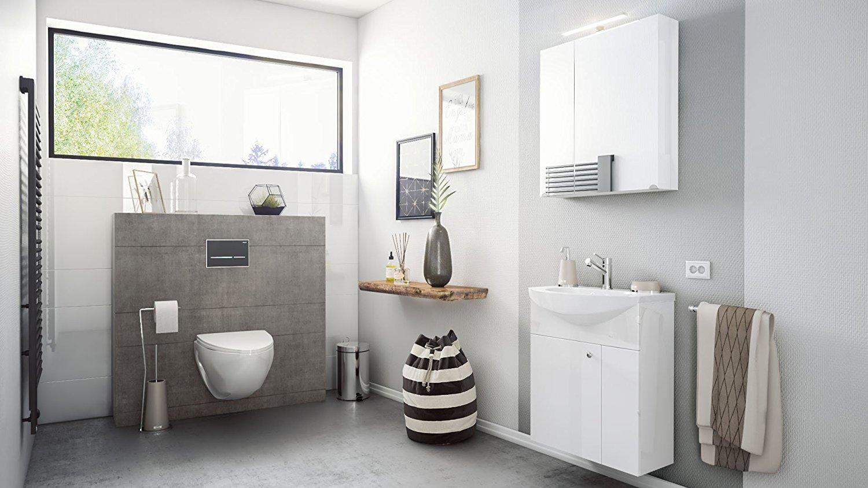 Bagno sospeso bianco clear mobile con lavabo lavandino