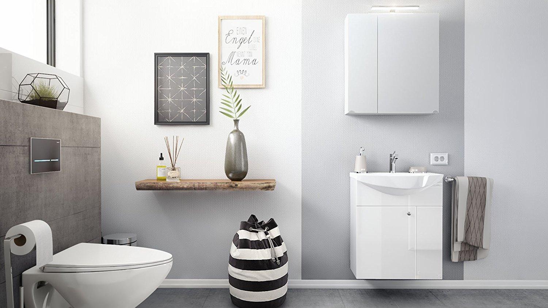 Bagno sospeso bianco clear mobile con lavabo lavandino - Mobile bagno con lavandino ...