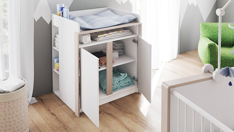 fasciatoio baby bianco mobile cameretta per bambini in 7. Black Bedroom Furniture Sets. Home Design Ideas