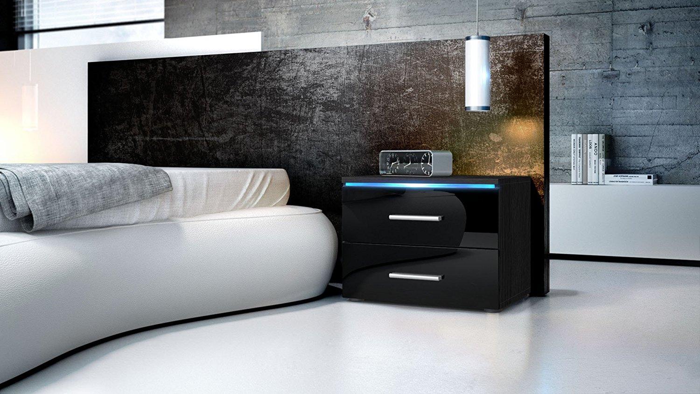 Comodino Falco per camera da letto,mobile in 13 colori