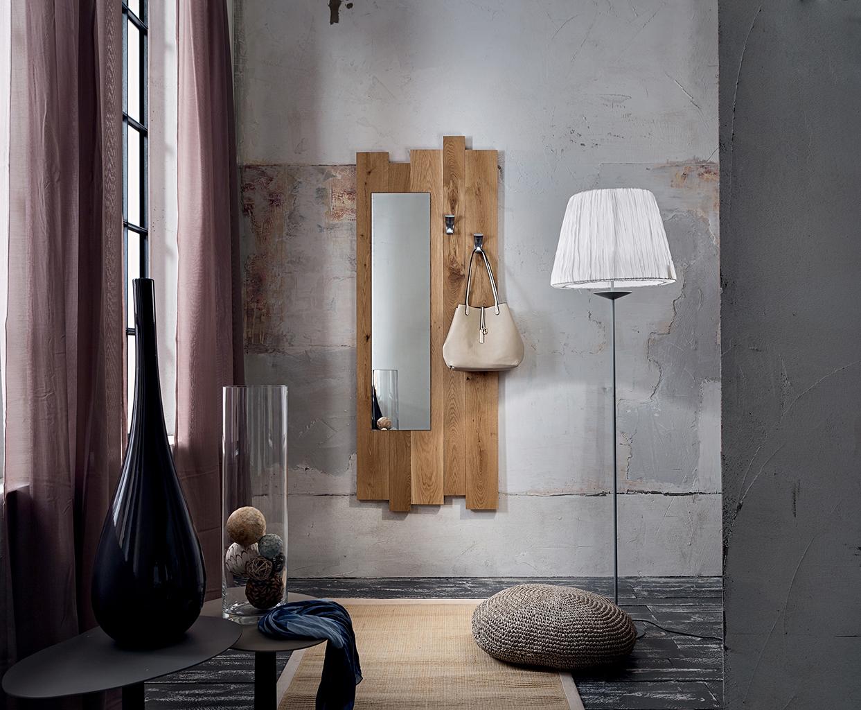 Ingresso in legno massiccio di rovere collezione adige for Specchio design ingresso
