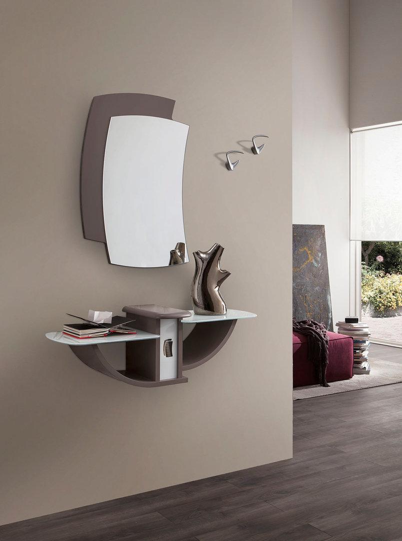 Appendiabiti Da Ingresso Chiuso loira entrata moderna appesa, con specchio, appendiabiti