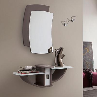 Loira entrata moderna appesa, con specchio, appendiabiti