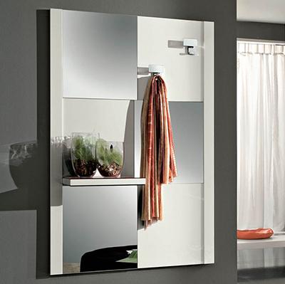 Specchio arno per ingresso corridoio disimpegno con mensola - Specchio moderno per ingresso ...