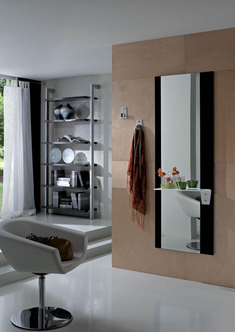 Piave specchio moderno mobile ingresso corridoio con appendini - Specchio con mensola per ingresso ...