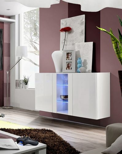Madia credenza sospesa Float23 cm 120x70x40 in 4 finiture
