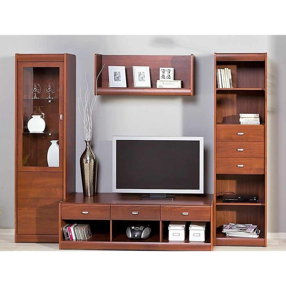 Mobile basso tv denver 10 tinta ciliegio 149x46x58 arredions for Mobile basso per soggiorno